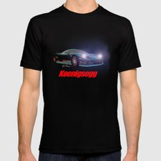 Koenigsegg MEDIUM Black Mens Fitted Tee
