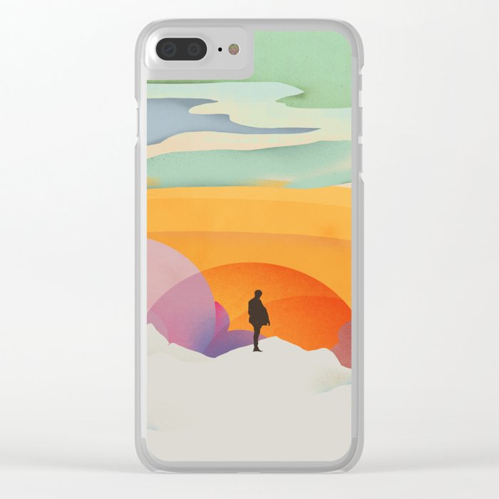 I Like to Watch the Sun Come Up - (White Version) Clear iPhone Case