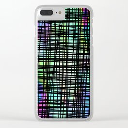 DP035-1 Colorful striped Clear iPhone Case