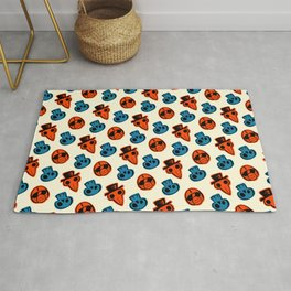 Pandemic Patterns - History Repeats (Colored) Rug