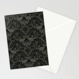 Stegosaurus Lace - Black / Grey - Stationery Cards
