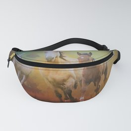 Wild Horses In The Fall Fanny Pack