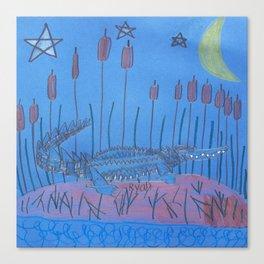 Night Swamp Canvas Print