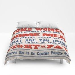 Vintage poster - Canadian Patriotic Fund Comforters