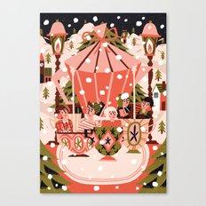 Christmas Coffee Carousel Canvas Print