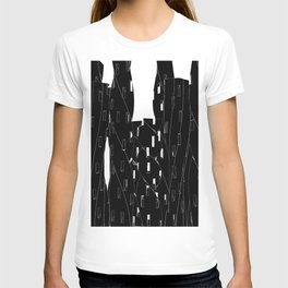 Abstract Cityscape Black and White T-shirt