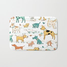 Dogs Dogs Dogs Bath Mat