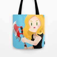 buffy Tote Bags featuring Little Warriors: Buffy by Inu Store