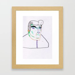 when georges takes too many glasses of water. Framed Art Print