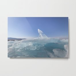 Ice sculptures of Baikal Metal Print