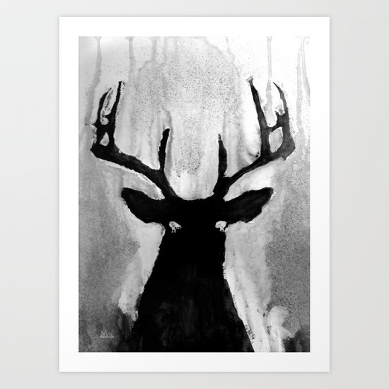 Whitetail - Buck Art Print