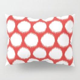 Red Asian Moods Ikat Dots Pillow Sham