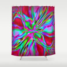 Colorfoil Radiates Red Shower Curtain