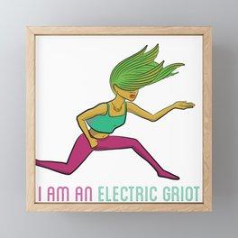 I Am An Electric Griot (Female) Framed Mini Art Print