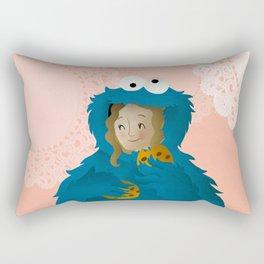 Cookie Monsterette Rectangular Pillow
