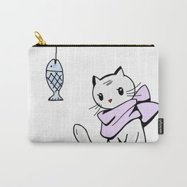Little cat and a death fish Carry-All Pouch