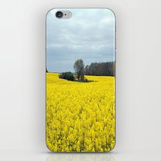 landscape in yellow iPhone & iPod Skin