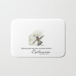 Nothing Great was ever achieved without Enthusiasm – RW Emerson Bath Mat