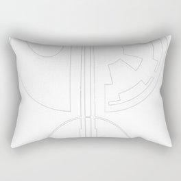 Galactic Emblems Minimalist T-Shirt Rectangular Pillow