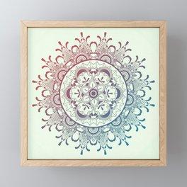 Tender mandala Framed Mini Art Print