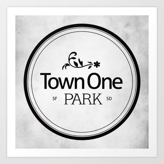 Town One Park Art Print
