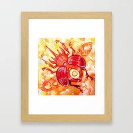Autumn Beetle Framed Art Print