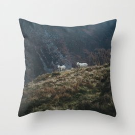 Sheep Walk Throw Pillow