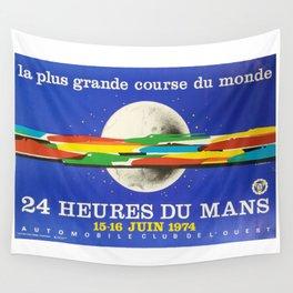 24hs Le Mans, 1974, original vintage poster Wall Tapestry