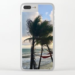 Feel the Breeze Clear iPhone Case