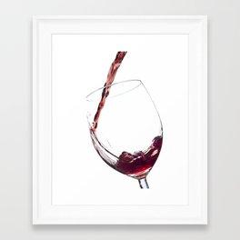 Elegant Red Wine Photo Framed Art Print