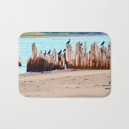 Perched on Wharf Remains Bath Mat