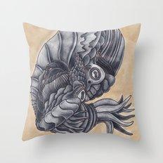 Mars Octopus Throw Pillow