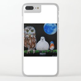 Wisdom Peace and Happiness Clear iPhone Case