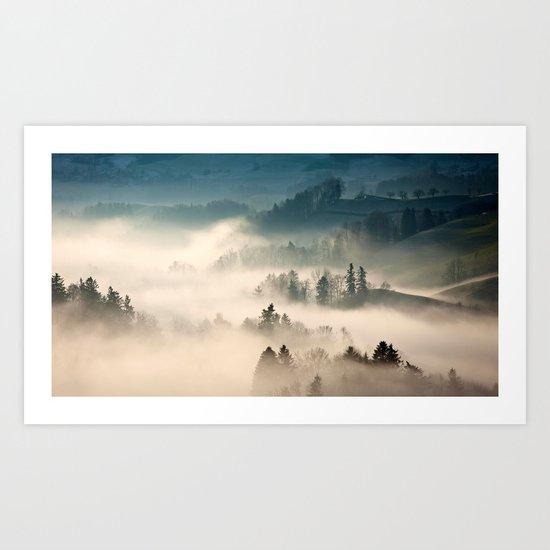 Scotland Fog Art Print