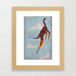Iron Brontosaurus - Superhero Dinosaurs Series Framed Art Print