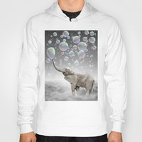 gray Hoodies featuring The Simple Things Are the Most Extraordinary (Elephant-Size Dreams) by soaring anchor designs