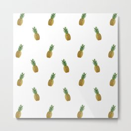 Pineapples Summer Metal Print