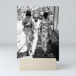 Kyoto   Charcoal B&W Mini Art Print