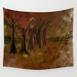 The Trees Beside the Lake Wall Tapestry