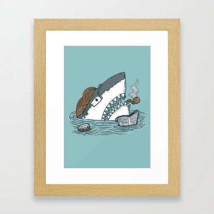 The Dad Shark Framed Art Print