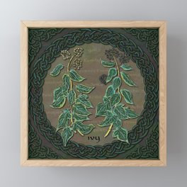 Celtic Ivy Framed Mini Art Print