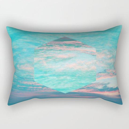 An underwater sunset Rectangular Pillow