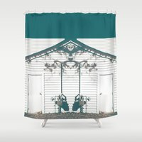 rorschach Shower Curtains featuring rorschach by made 2 take
