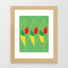 Nature Colorful Leaves Framed Art Print