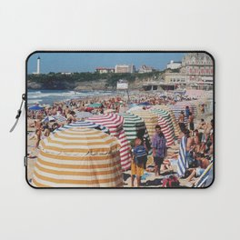 Biarritz Beach Tents Laptop Sleeve
