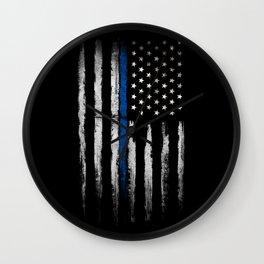 Thin Blue line Wall Clock