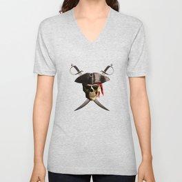 Pirate Skull And Swords Unisex V-Neck