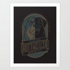 ROTTWEILER (TOUGH) Art Print