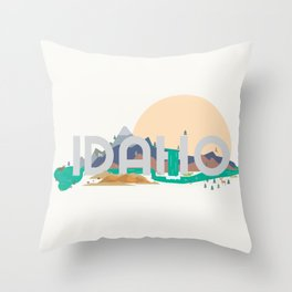 Beautiful Idaho Country Throw Pillow