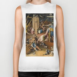 Visions of Hell by Heironymus Bosch Biker Tank